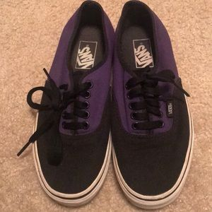 Black and purple vans